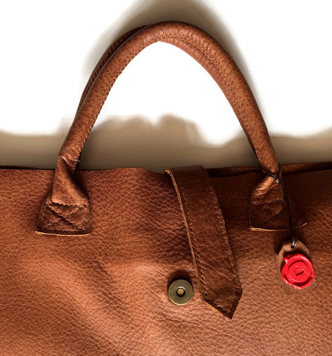 Leather laptop bag 'Valerie'