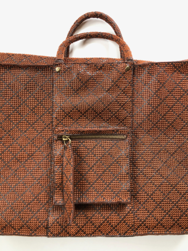 Leather embroidered working or travel bag 'Pip'
