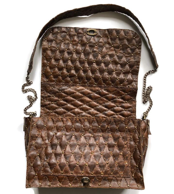 brown hooded cross body bag 'Arre'