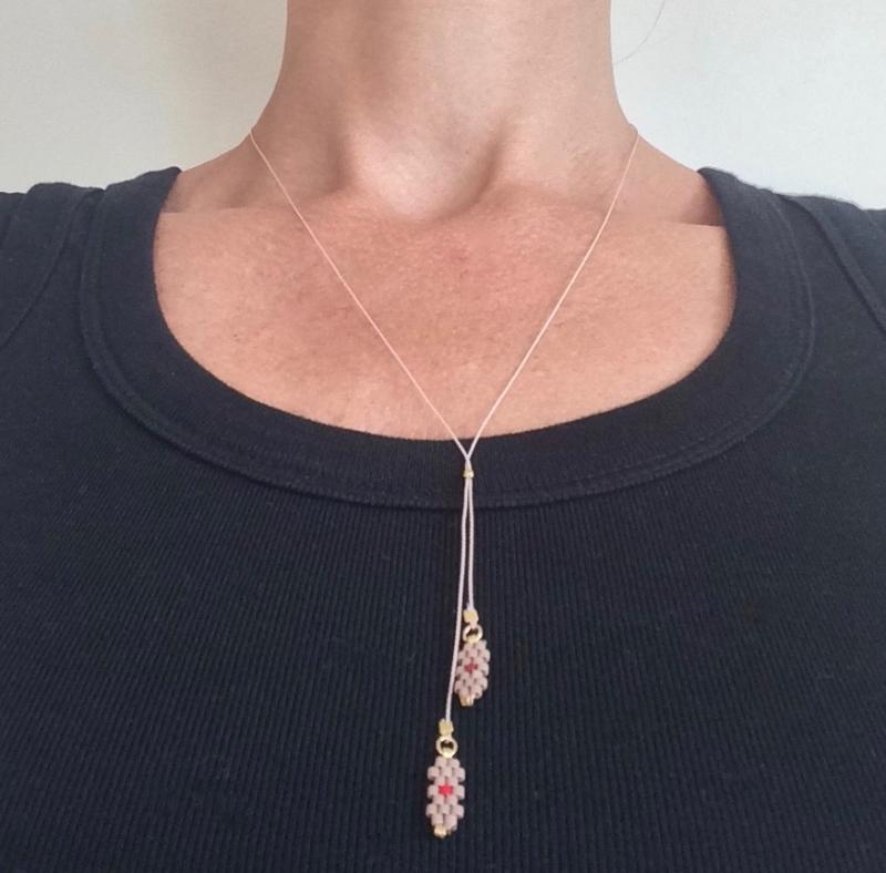 Silk necklace