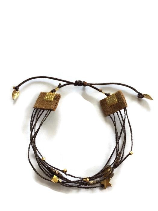 Bracelet 6 in 1 brown