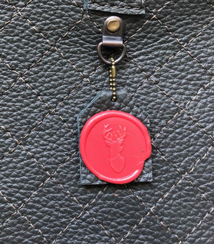 Leather laptop bag 'Kaat'