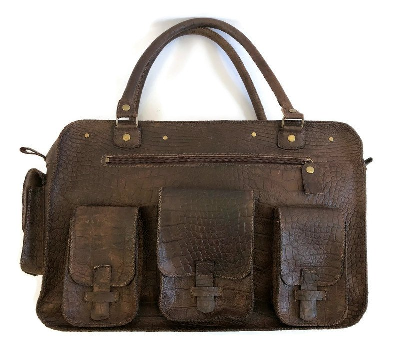 Leather working or travel bag (suitable for laptop) 'Mirthe'