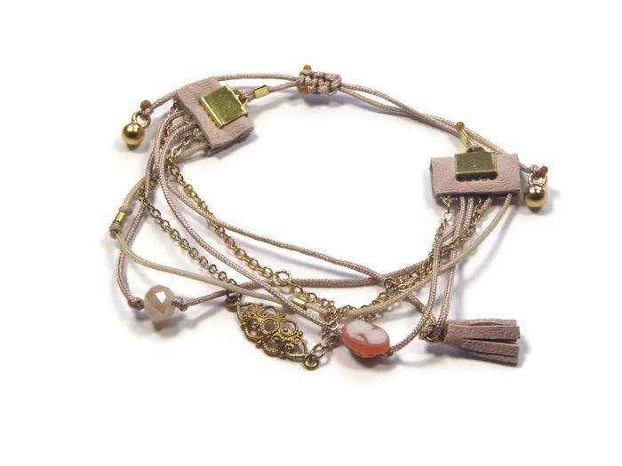 Fine bracelet 6 in 1 nude