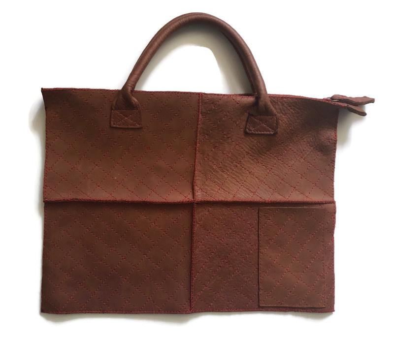 Leather laptop bag 'Kato'