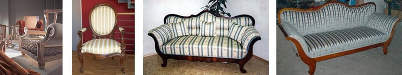 Ook klassieke meubelstoffering is mogelijk