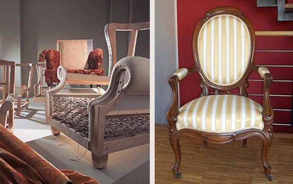 Meubelstoffering klassieke stoel