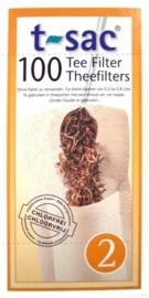 T-sac Losse Theefilters 100 stuks (mok/theeglas) 10 stuks