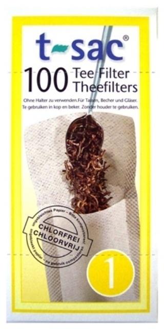 T-sac Losse Theefilters 100 stuks (kop) 10 stuks