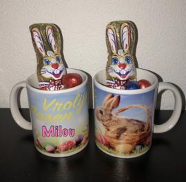 Mok voor Pasen met naam