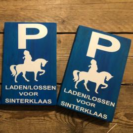 Parkeerbordje voor de Sint