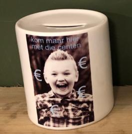 Persoonlijke spaarpot met foto