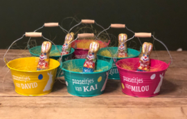 Paasemmertjes  met chocolade en naam