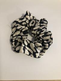 Scrunchie zwart wit
