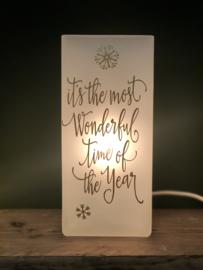 Kerstlampje met wens