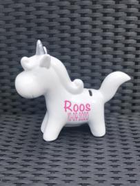 Eenhoorn/Unicorn spaarpot met naam