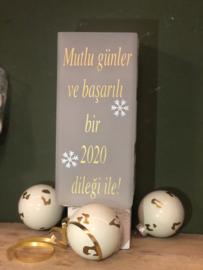 Kerstlampje Turkse kerstgroet en 2020 groet