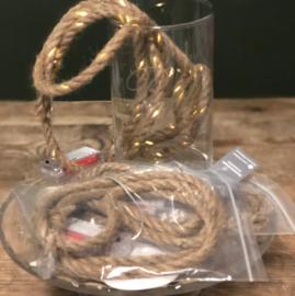 2 meter touw met licht incl batterijen