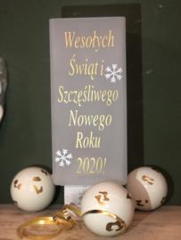 Kerstlampje Poolse kerstgroet en 2020 groet