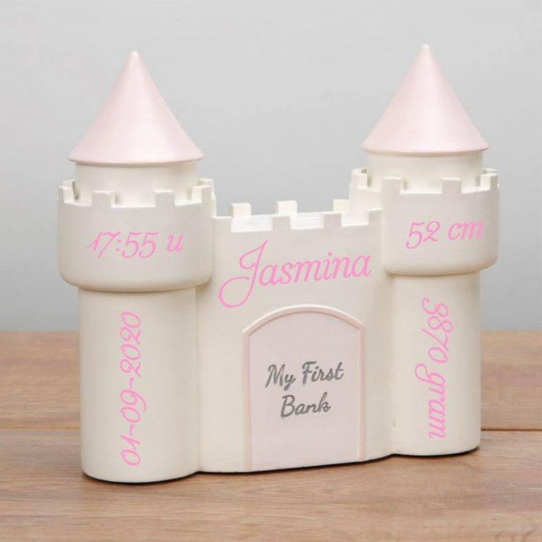 Spaarpot met naam kasteel