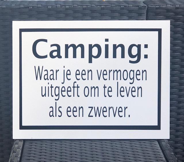 Tekstbord Camping
