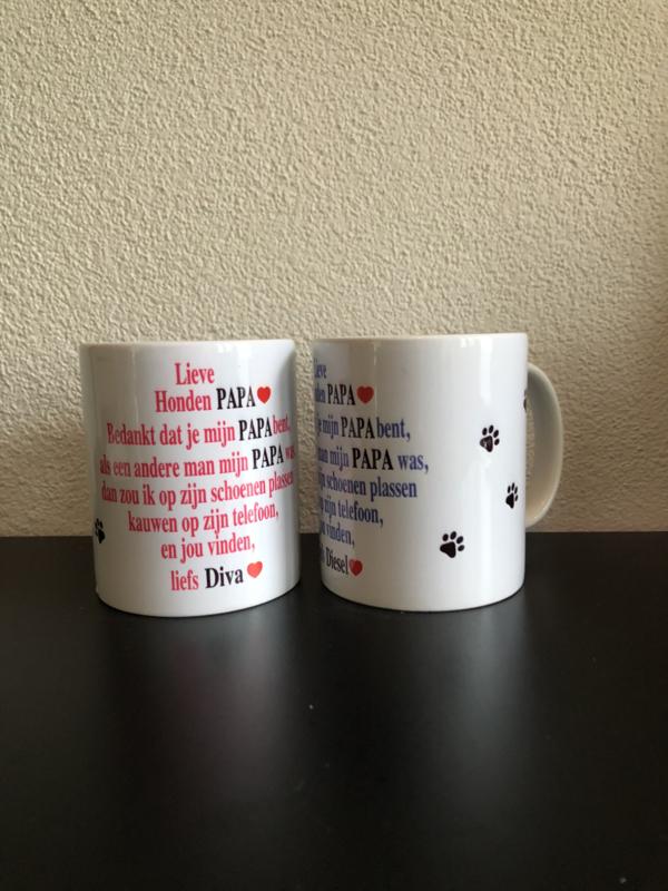 Mok voor hondenvader/hondenpapa