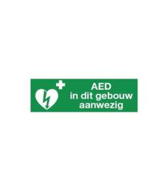 AED in dit gebouw aanwezig iso pp 300x100mm