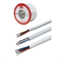 Kabel 4 x 0,2mm2 vertind 100m wit niet afgeschermd.
