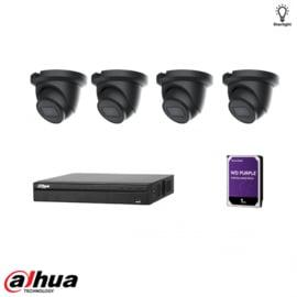 Dahua 4MP AI kit Zwart
