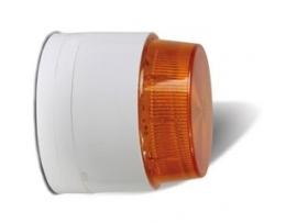 Flitser met oranje lens.