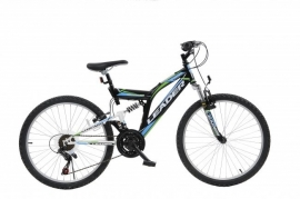 Leader Full Suspension 24 inch mountainbike