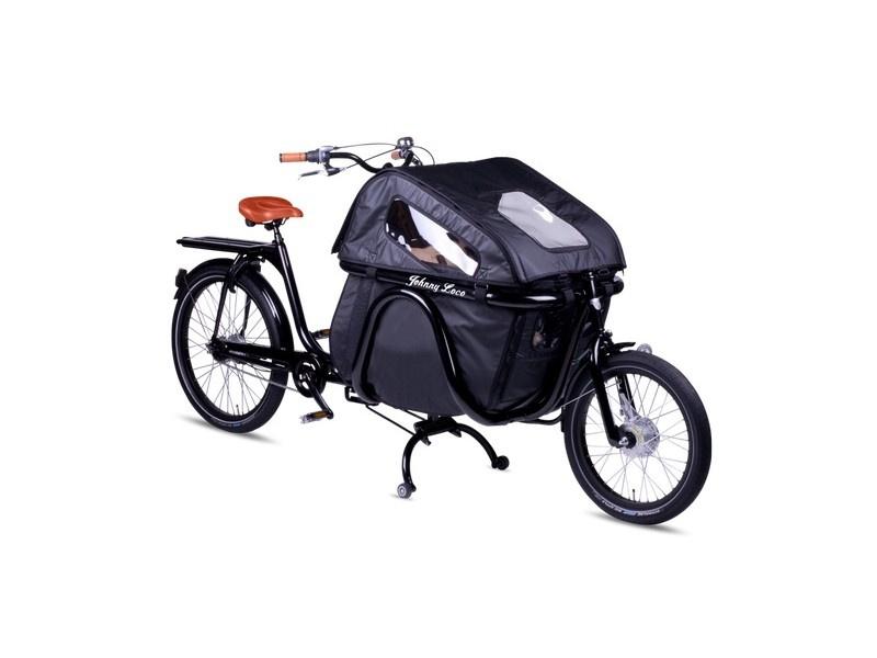 Johnny Loco tweewielbakfiets Coupe De Luxe Nexus 7 zwart