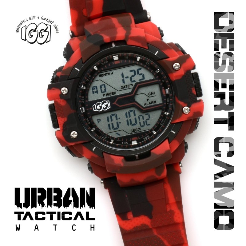 IGGI Urban Tactical Horloge - Desert Red
