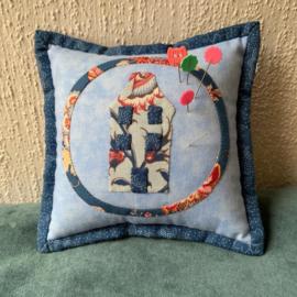 Speldenkussen blauw/Pincushion blue