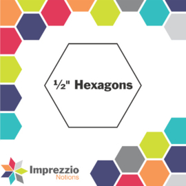 "1/2"" Hexagon papers"