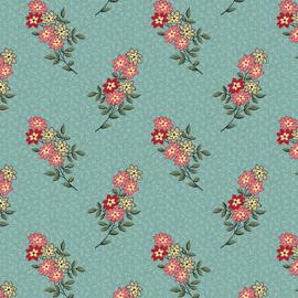 Nana's Flower Garden 9533 Kathryn teal