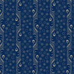 Mood in Blue  Paisley Stripe 0728-0150
