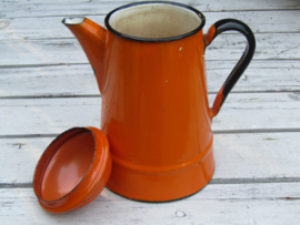 Emaille thee/koffie pot