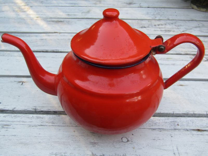 Emaille thee pot