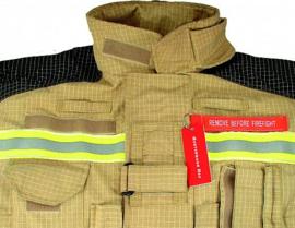 Naam tag sleutelhanger 'remove before firefight'