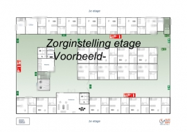 Table Top plattegrond - set 6 stuks -