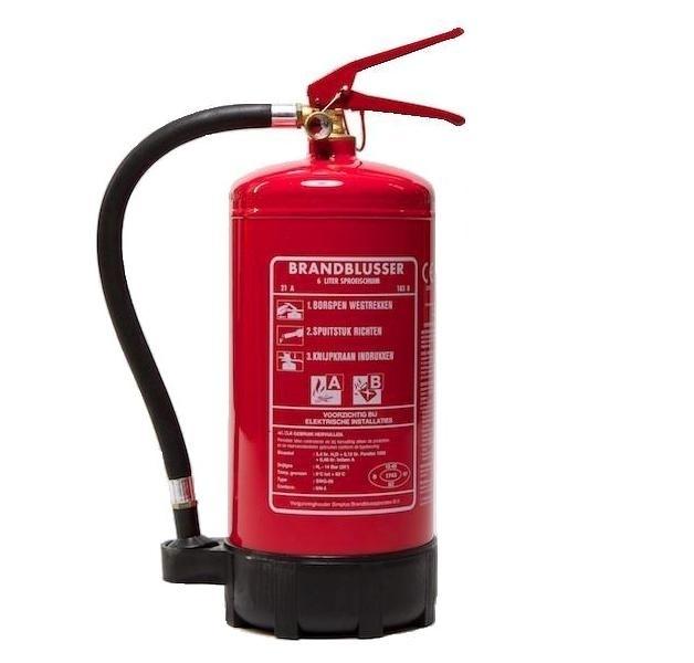 Brandblusser sproeischuimblusser 6 liter