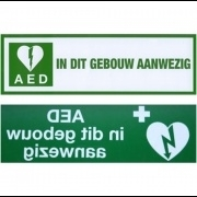 Raamsticker AED
