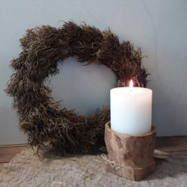 Iron bush wreath natural