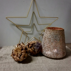 Metal star gold 20cm