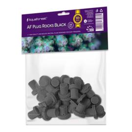 Aquaforest Plugs Rocks Black 24 stuks