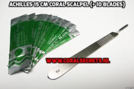 Achilles 15 cm Coral Scalpel (+ 10 Blades)