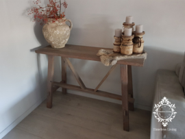 Sidetable oud teak hout - Charelle