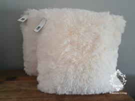 Dutch Decor Fluffy kussen - Ivoor 45 x 45