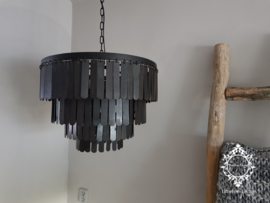 Kroonluchter metaal schijven / schijvenlamp Ø 50 cm.